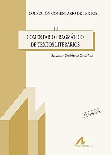 Comentario pragmático de textos literarios (Comentario de textos)