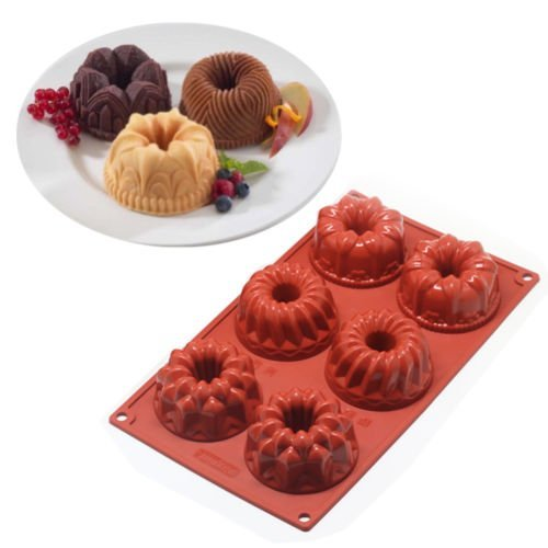 Silconce Baking Mould,DiDaDi Food Grade Silicone Non Stick Cake Bread Mold For Thanksgiving Chocolate Jelly Candy Baking Bakeware Mold 6-Cavity (Baking Molder compare prices)