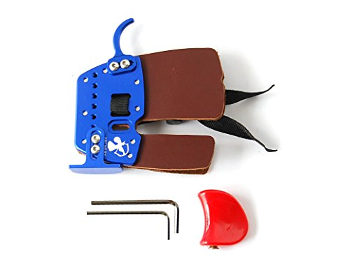 Super-Leather-Archery-Finger-Tab-Finger-Protector-Blue-RH-for-Hunting