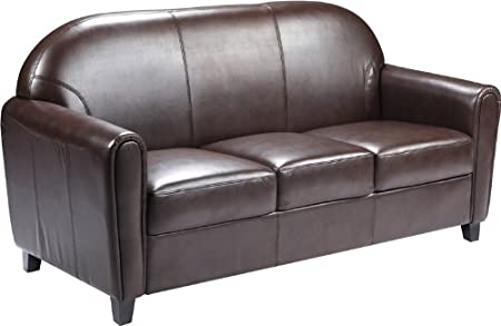 Flash Furniture Hercules Envoy Series Brown Leather Sofa