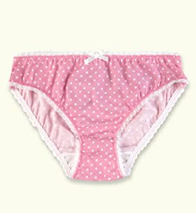 Older Girls&#39; Pure Cotton Polka Dot Bikini Briefs