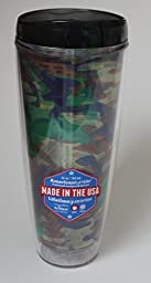 26oz Camouflage Hot / Cold Tumbler with Lid (Straw Not Included) by American Tumbler