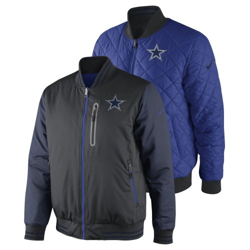 Men's Dallas Cowboys Reversible Destroyer Jacket by Nike (Anthracite-Royal)(Size=MEDIUM) at Amazon.com