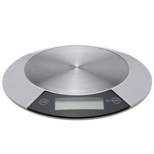 Balance culinaire numérique en acier inoxydable rond