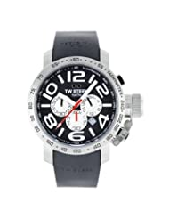Grandeur 45mm Men's Watch with Black Chronograph Dial
