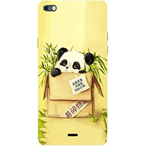Casotec Panda In Box Design 3D Printed Hard Back Case Cover for Micromax Canvas Sliver 5 Q450