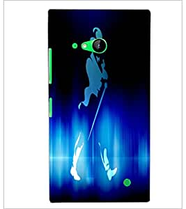 PrintDhaba Jhony Walker D-3442 Back Case Cover for NOKIA LUMIA 730 (Multi-Coloured)