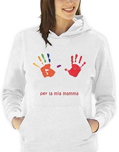 Sudadera-con-capucha-da-de-la-madre-Per-Mi-madre-diseo-de-huellas-de-manos-hombre-mujer-todas-las-tallas-S-M-L-XL-Camiseta-by-tshirteria-XXL-blanco-TallaSmall-donna
