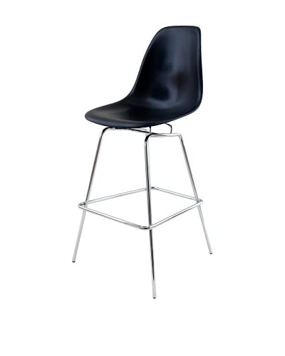 Control Brand The Standard Bar Stool, Black/Silver