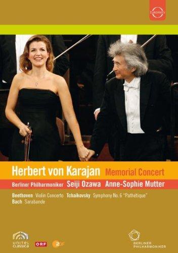 Karajan Memorial Concert - Beethoven/Bach/Tchaikovsky (Anne-Sophie Mutter/Berlin PO/Ozawa) [DVD] [2008] [2009]