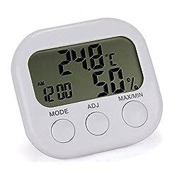 Relative humidity temperature clock weather monitoring for Bedroom temperature
