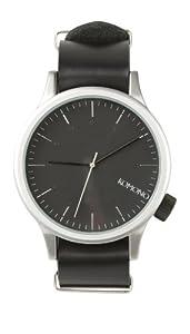 Komono - Magnus Mens Large Metal Case Watch - Silver Black