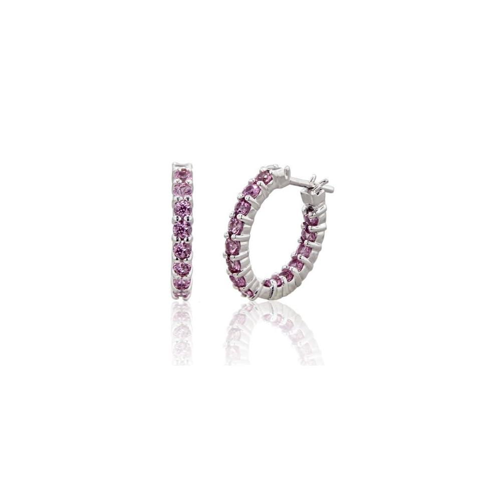 Effy® 14K White Gold Pink Sapphire Earring 2.23 Tcw. Jewelry