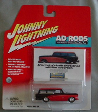 Johnny Lightning Ad Rods 1959 Rumblur Wagon RED BLACK