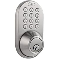 MiLocks DF-02SN Keyless Entry Deadbolt Door Lock with Electronic Digital Keypad Entry (Satin Nickel)