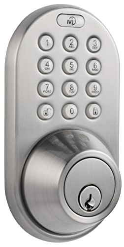 MiLocks DF-01SN Electronic Keyless Entry Touchpad Deadbolt Door Lock