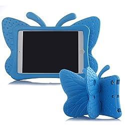 Ipad Mini Case,ER CHEN(TM) Kids Light Weight Cute Butterfly Design Shock Proof EVA Foam Series Case for Ipad Mini / Mini 2 / Mini 3(Blue)