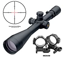 Leupold Mark 4 8.5-25x50mm LR/T M1 - Tactical Milling Illum. Reticle (67985), with FREE A.R.M.S. #22 Scope Rings