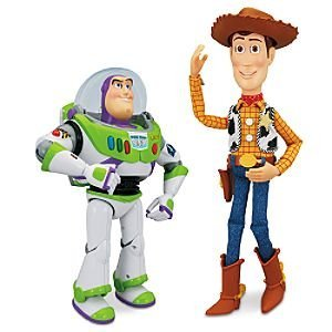 Disney Pixar Toy Story 3 Interactive Buddies Talking Action Figures - 12 inch Buzz Lightyear & 16 inch Woody Set