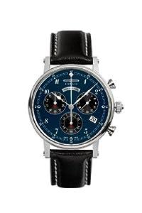 Zeppelin Watches Women's Quartz Watch 7577-3 7577-3 with Leather Strap