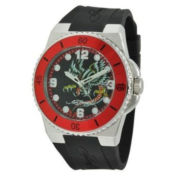 Ed Hardy Men's FU-DR Fusion Red Watch