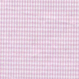 Gingham Crib Sheets - Set Of 6 - Color: Pink Style: Flat front-1025665