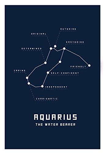 Astrology-Chart-Aquarius-Poster-13-x-19in
