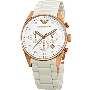 Emporio Armani Men's AR5919 Sport White Dial Watch