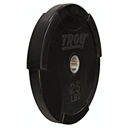 Troy Barbell 25 lb. Interlocking Olympic Rubber Bumper Plate