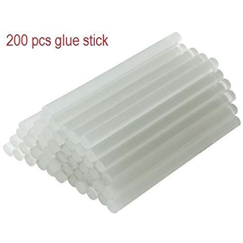 Fashion 200 pcs Hot Melt Mini Glue Gun Stick Clear 7x100mm (Pro 200 Hot Melt Glue Gun compare prices)