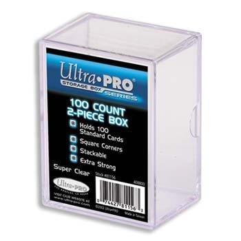 ULTRA-PRO-5x-2-Piece-Box-Holds-100-Cards-Each-PLASTIC-STORAGE-BOX-Sports-Cards-Gaming-Decks