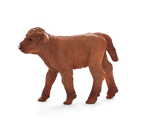 MOJO Fun 387202 Highland Calf - Realistic Cow Farm Animal