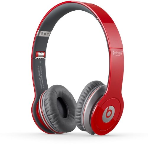 Beats by Dr. Dre Solo HD Naturally Noise Isolating On-Ear Headphones (Red)