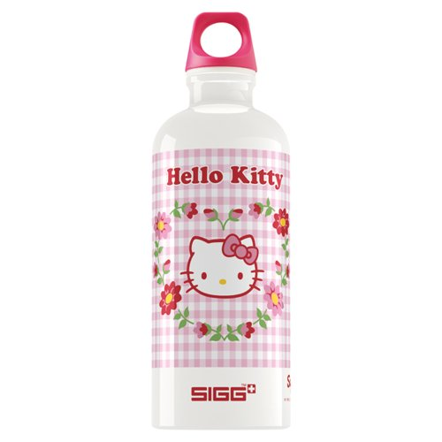 Sigg Hello Kitty Romance Water Bottle (Pink/White, 0.6-Litre) front-900870