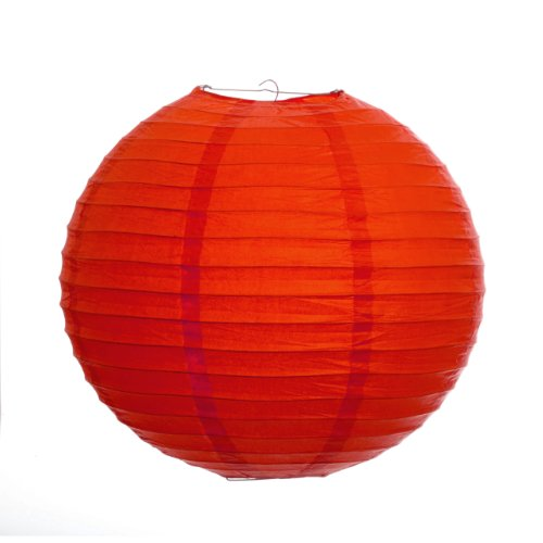 Koyal 24-Inch Paper Lantern, Red