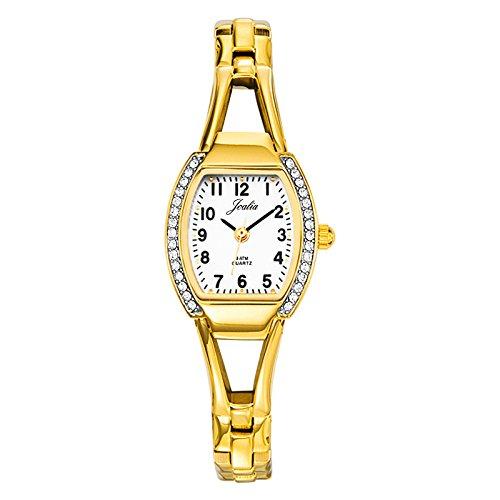 Certus 631414-Ladies Watch-Analogue Quartz-White Dial-Golden Metal Strap