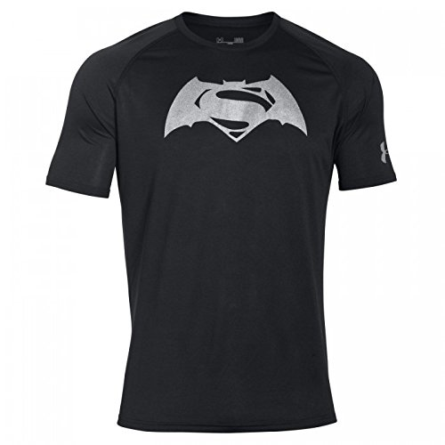 Under Armour Superman VS Batman Tech Short Sleeve Tee Shirt black-silver - M