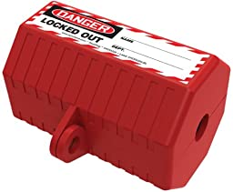Accuform Signs KDD225 STOPOUT StopPlug 110 VAC Plug Lockout, Fits Most 110 VAC Plugs, Plastic, Red