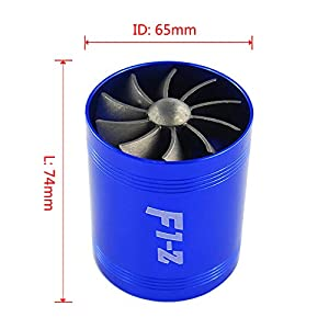 Universal Fit Turbo Double Fan Air Intake Fuel Saver Fan TURBO SUPERCHARGER Y