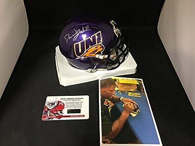 David Johnson Signed Autographed UNI Arizona Cardinals Mini Helmet Witnessed COA & Hologram W/Photo From Signing