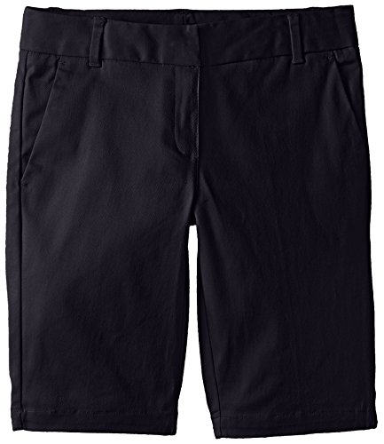 Izod Big Girls' Uniform Short Bermuda, Navy, 14 Regular
