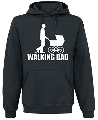 The Walking Dad Felpa con cappuccio nero XL