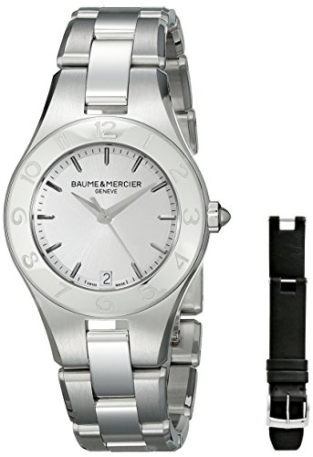 Baume and Mercier Linea Silver Dial Stainless Steel Ladies Watch MOA10070
