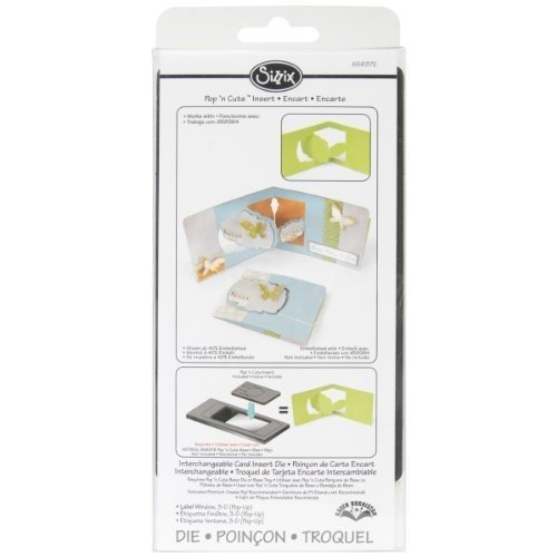 Sizzix Pop 'n Cuts Magnetic Insert Die - Label Window, 3-D (Pop-Up) by Karen Burniston (Pop N Cuts Inserts compare prices)