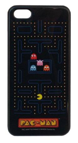 PAC-MAN(パックマン) iPhone5ケース ブラック7577【テレビゲーム アイフォン5ケース ジャケット カバー レトロ ファミコン】