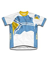 Tuva Flag Short Sleeve Cycling Jersey for Women