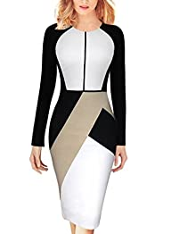 VfEmage Womens Asymmetric Colorblock…
