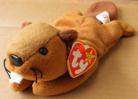 TY Beanie Babies Bucky the Beaver Plush Toy Stuffed Animal