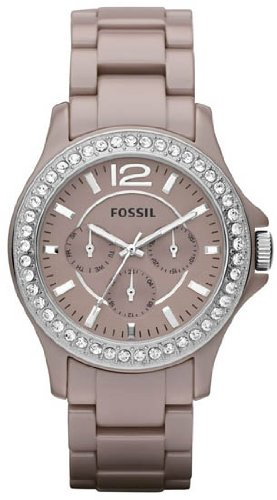 Fossil Riley Multifunction Ceramic Watch - Antique Pearl Ce1063