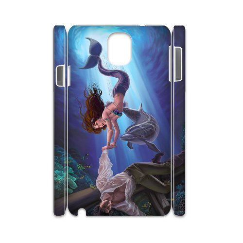 Samsung Galaxy Note 3 N9000 Mermaid 3D Art Print Design Phone Back Case Personalized Hard Shell Protection Aq066883